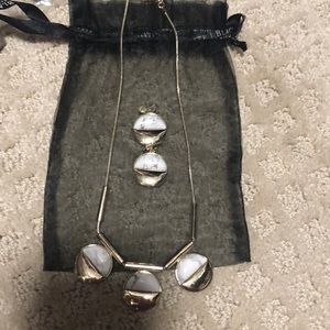 Necklace and earring set from WHBM